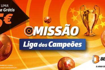 Ganhe 5€ Liga dos Campeões