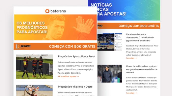 newsletter do Betarena